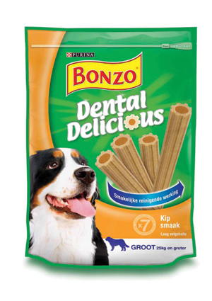Bonzo Hondensnack Dental Delicious Kip Groot 270 gram