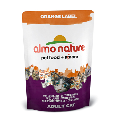Almo Kattenvoer Orange Label Dry Konijn - 105 gram