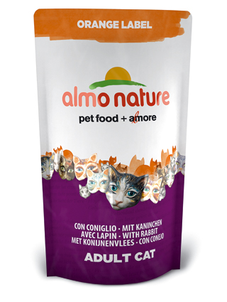Almo Kattenvoer Orange Label Dry Konijn - 750 gram