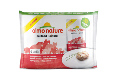 Almo Nature Kip/Garnalen Valuepack 55gr.