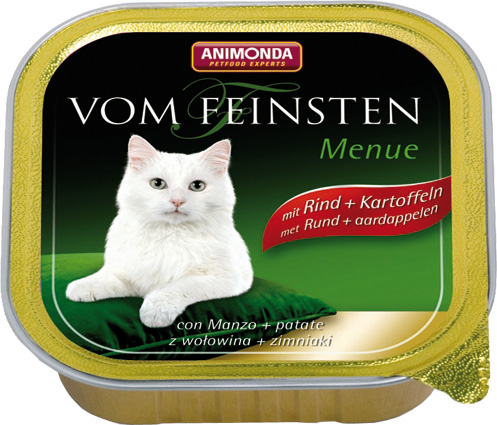 Feinsten Cat Menu Rund+Aard. 100gr.