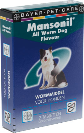 Mansonil Ontwormmiddel All Worm Hond 2 tab