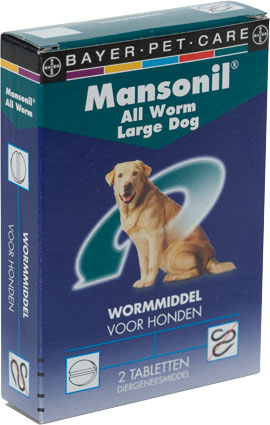 Mansonil Ontwormmiddel All Worm Hond Groot 2 tab