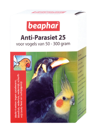 Beaphar Anti Parasiet Vogels 25 - 2 Pipets