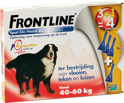 Frontline Spot on Dog XL 4 Pipetten 40-60 kg