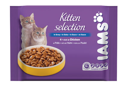 Iams Pouch 4-pack Kitten Chicken 4x100 gram
