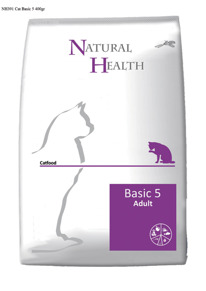 Natural Health Kattenvoer Basic 5 - 400 gram