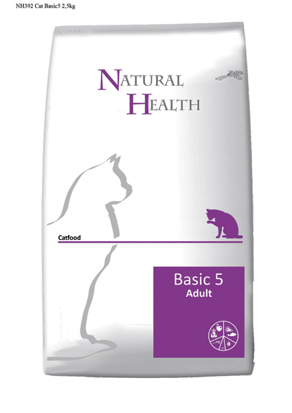 Natural Health Kattenvoer Basic 5 - 2500 gram