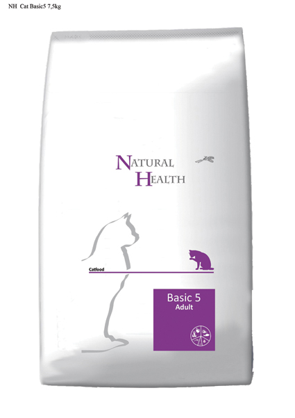 Natural Health Kattenvoer Basic 5 - 7500 gram
