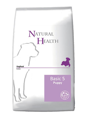 Natural Health Hondenvoer Basic Five Puppy 12,5 kg