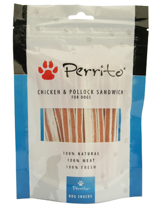 Perrito Kattensnacks Chicken & Pollock Sandwich Dog 100 gram