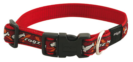 Scooter Halsband bone on red 1 stuks 16mm - 5/8