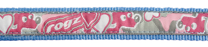 Beach Bum Choker Pink Hearts 1 stuks 20mm - 3/4