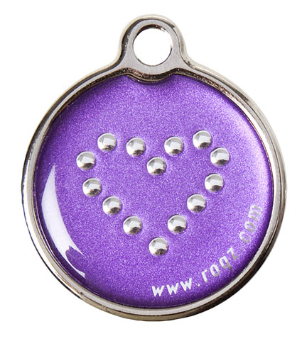Rogz ID-tag Metal Purple Chrome Klein