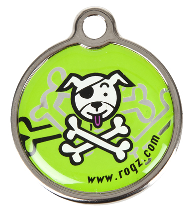 Rogz ID-tag Metal Lime Bone Klein