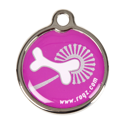 Rogz ID-tag Metal Pink Bone Groot