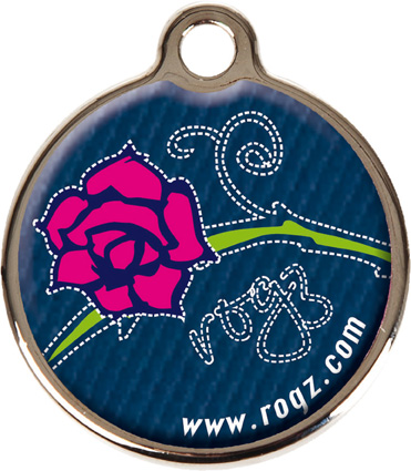 Rogz ID-tag Metal Denim Rose Groot
