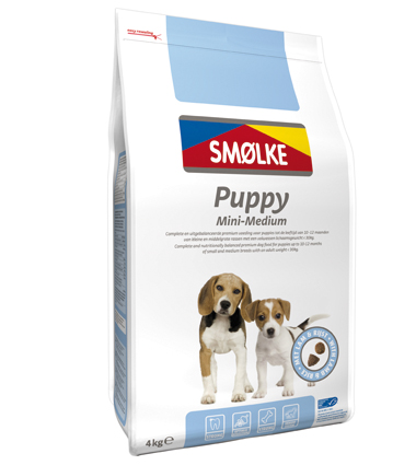Smolke Hondenvoer Puppy Mini Medium 4 kg