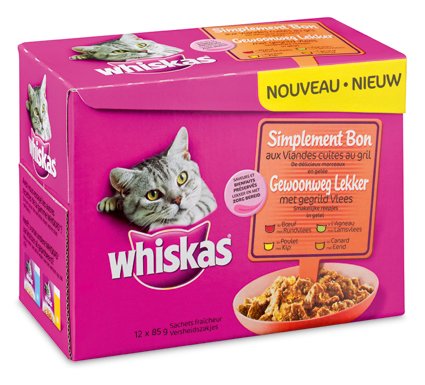 Whiskas Multi Adult Gegrild Vlees 12x85gr.