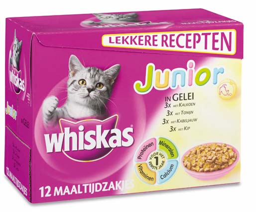 Whiskas Multi Junior Gelei 12x100gr.