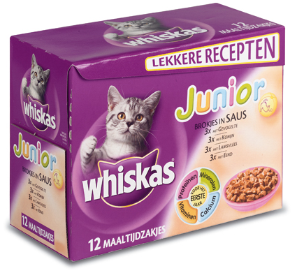 Whiskas Multi Jun.Saus etc. 12x100gr.