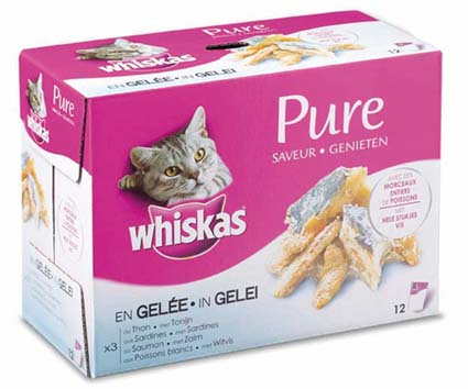 Whiskas Pure MP Vis 12 stuks