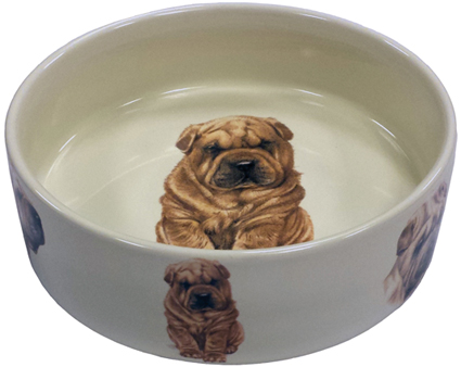 Animal Prints Hondenvoerbak Sharpei 16 cm